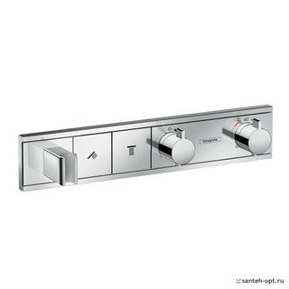Термостат для душа Hansgrohe RainSelect 15355000 с 2 кнопками